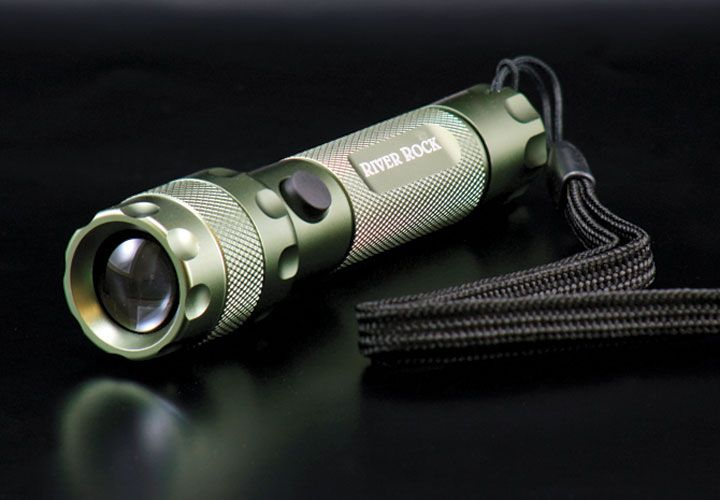 This palm-sized, highly-focused handy flashlight from River Rock won't blind yourself or others...