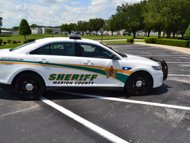 The Marion County (Fla.) Sheriff's 2013 Ford Police Interceptor sedan