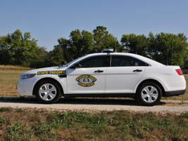 The Missouri State Highway Patrol's Ford Police Interceptor sedan