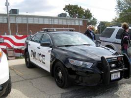 The Woodridge (Ill.) PD's 2013 Ford Police Interceptorsedan. Photo: Christopher Holmes.