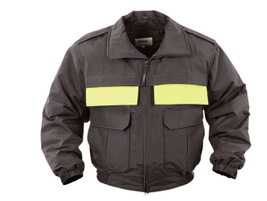 The Elbeco Shield Meridian Modular Outerwear Jacket has a water-repellent nylon shell that...