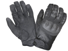 Safariland's Hatch Ultimatum tactical glove is made with molded finger guards to deflect impact...