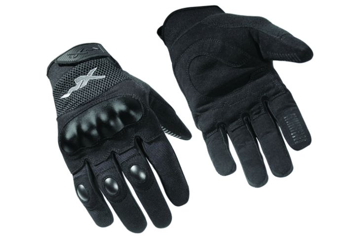 The Wiley X Durtac glove features  injection-molded thermoplastic knuckle and  individual finger...