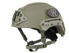 Team Wendy's Exfil Ballistic helmet features a hybrid composite shell designed to yield...