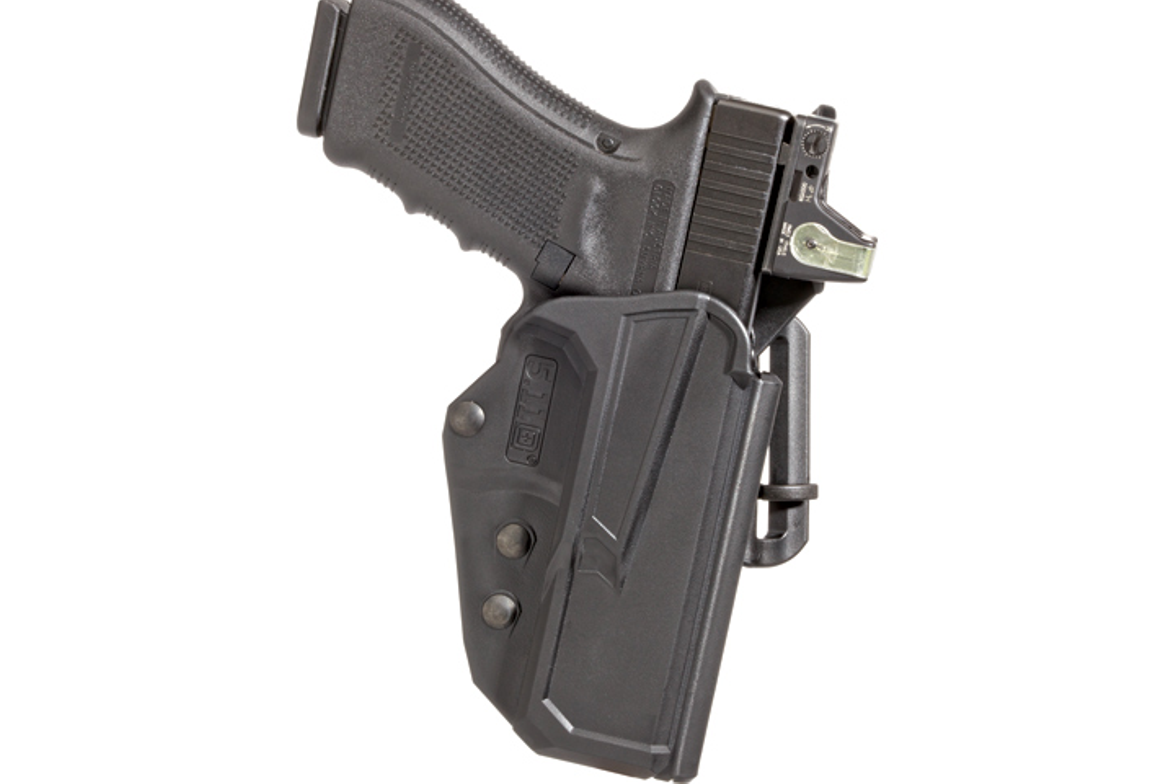 The patent-pending Level II security ThumbDrive holster from 5.11 Tactical is reinforced  and...
