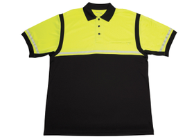 Elbeco's Ufx Ultra Light Color Block Polo features eye-catching color blocks and reflective...