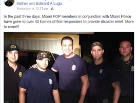 The same Miami officers who are delivering aid to Key West first responders are also helping...