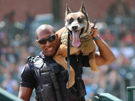 K-9 Austin and Officer Wells from Scottsdale PD (Photo: Leslie Pfeiffer)