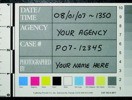 A color cover sheet should be photographed both to capture information and provide values for...