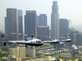 With such an active unit, there are two to three LAPD helicopters in the air at any given...