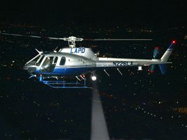 This LAPD AS350 patrols in the western area of the San Fernando Valley.