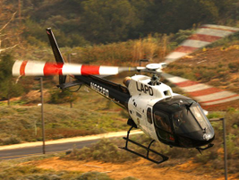 The AS350 helicopter is a single-engine aircraft.