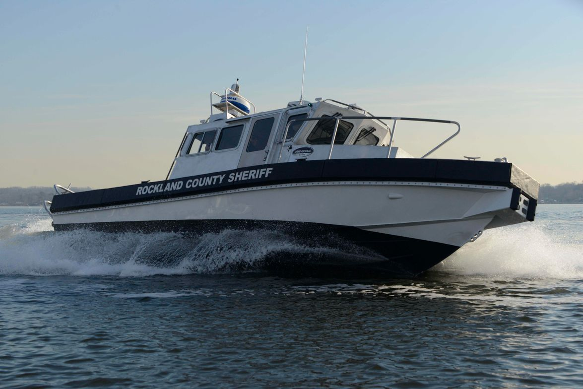 The Lake Assault custom patrol boat is now on duty with the Rockland County Sheriff's Department...