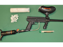 Pepper-ball carbines are very effective in redirecting a suspect's focus.