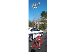 Traffic Safety System's All Terrain Scene Light Cart Generator LED scene light provides single...