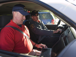 Once testing is completed, Michigan State Police vehicle evaluators prepare notes that will...