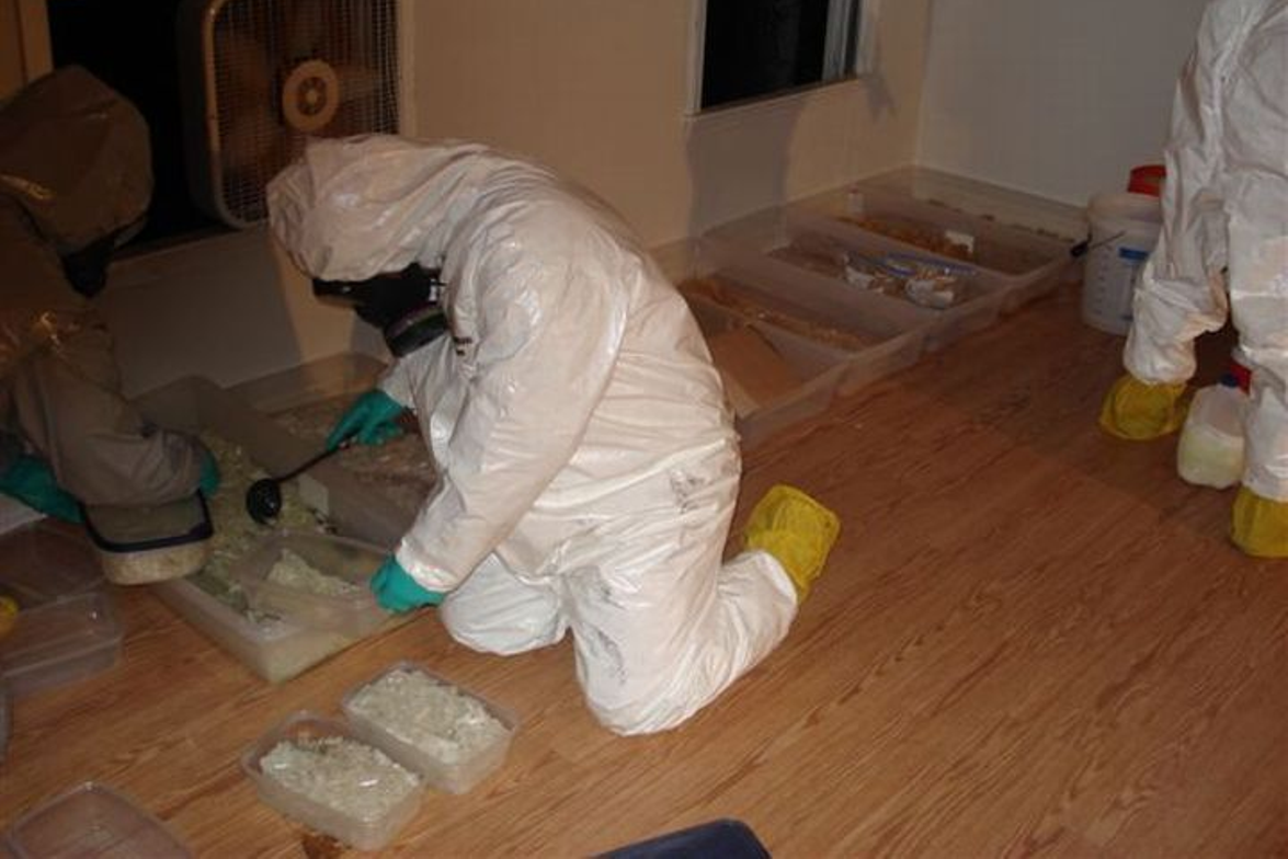 The Atlanta Field Division of the DEA sent its Clandestine Laboratory Enforcement Team wearing...