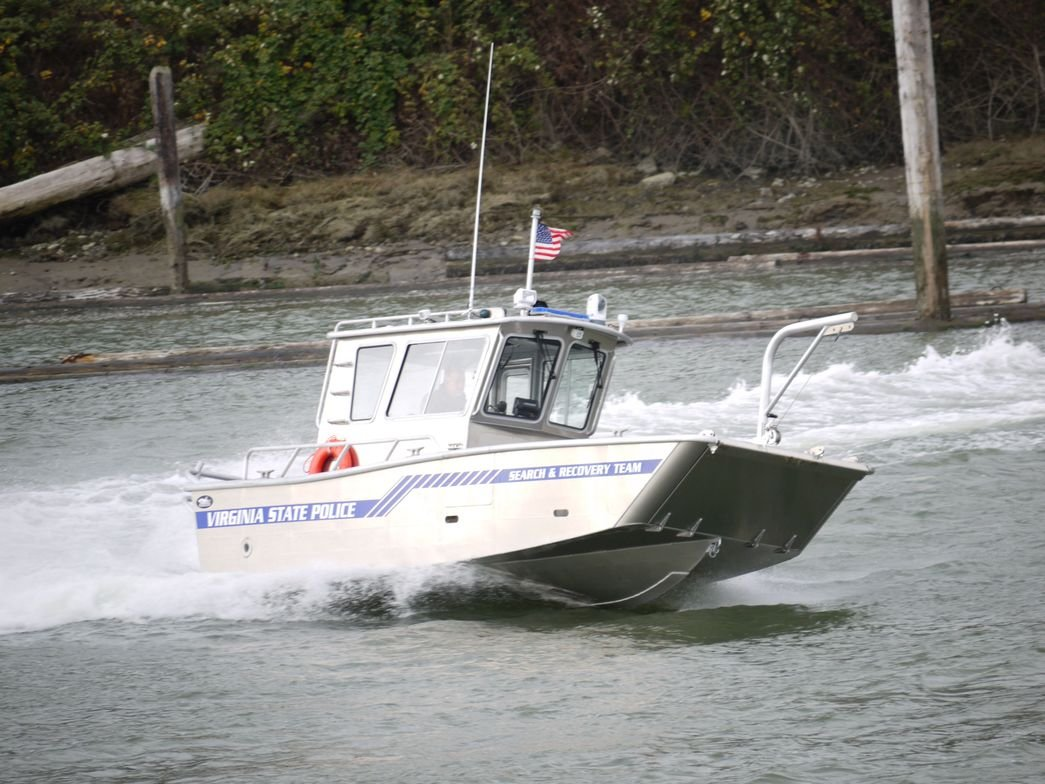 The Virginia State Police Search and Recovery Team operates a pair of easily trailerable Munson...