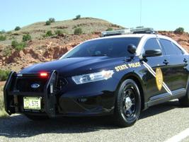 The New Mexico State Police's 2013 Ford Police Interceptor sedan