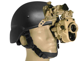 ITT Exelis'DSNVG monocular is also available in coyote tan and can be helmet-mounted.