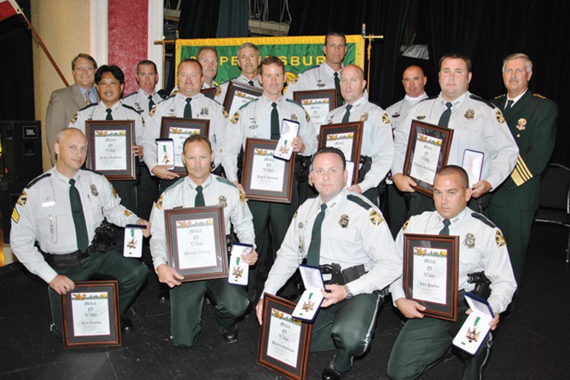 October 2011: The St. Petersburg (Fla.) Police Department's Officer Darrell Goodrow, Sgt. Karl...