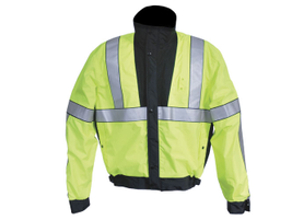 Innovative details of Elbeco's Bomber-styled Lifesaver jacket include front patch pockets with...