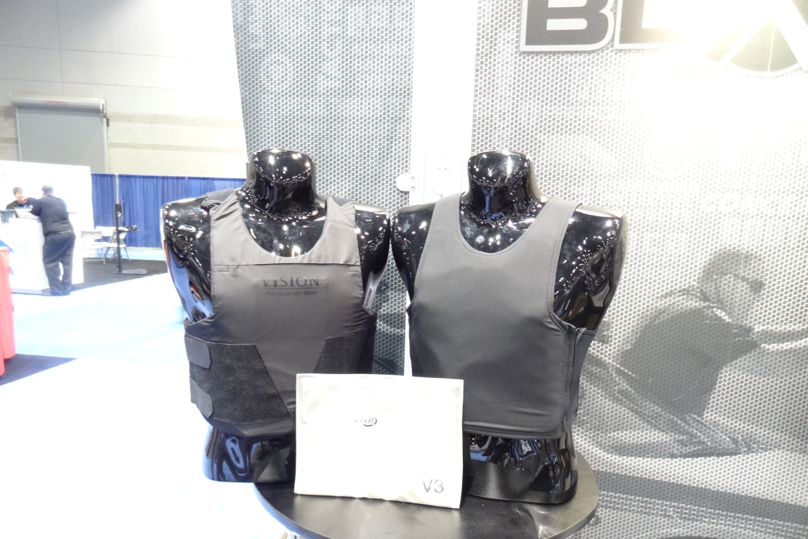 Point Blank Enterprises' Alpha Elite Black concealed body armor ballistic package is designed to...