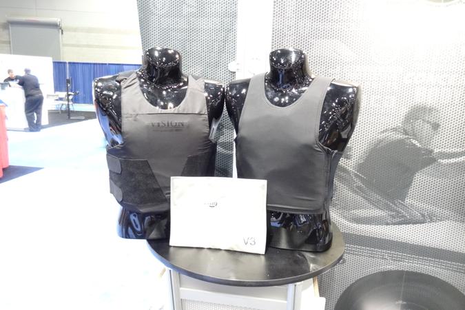 Point Blank Enterprises' Alpha Elite Black concealed body armor ballistic package is designed to...