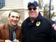 Officer David Jacober of the Pueblo (Colo.) PD met former lightweight boxing champ Ray...