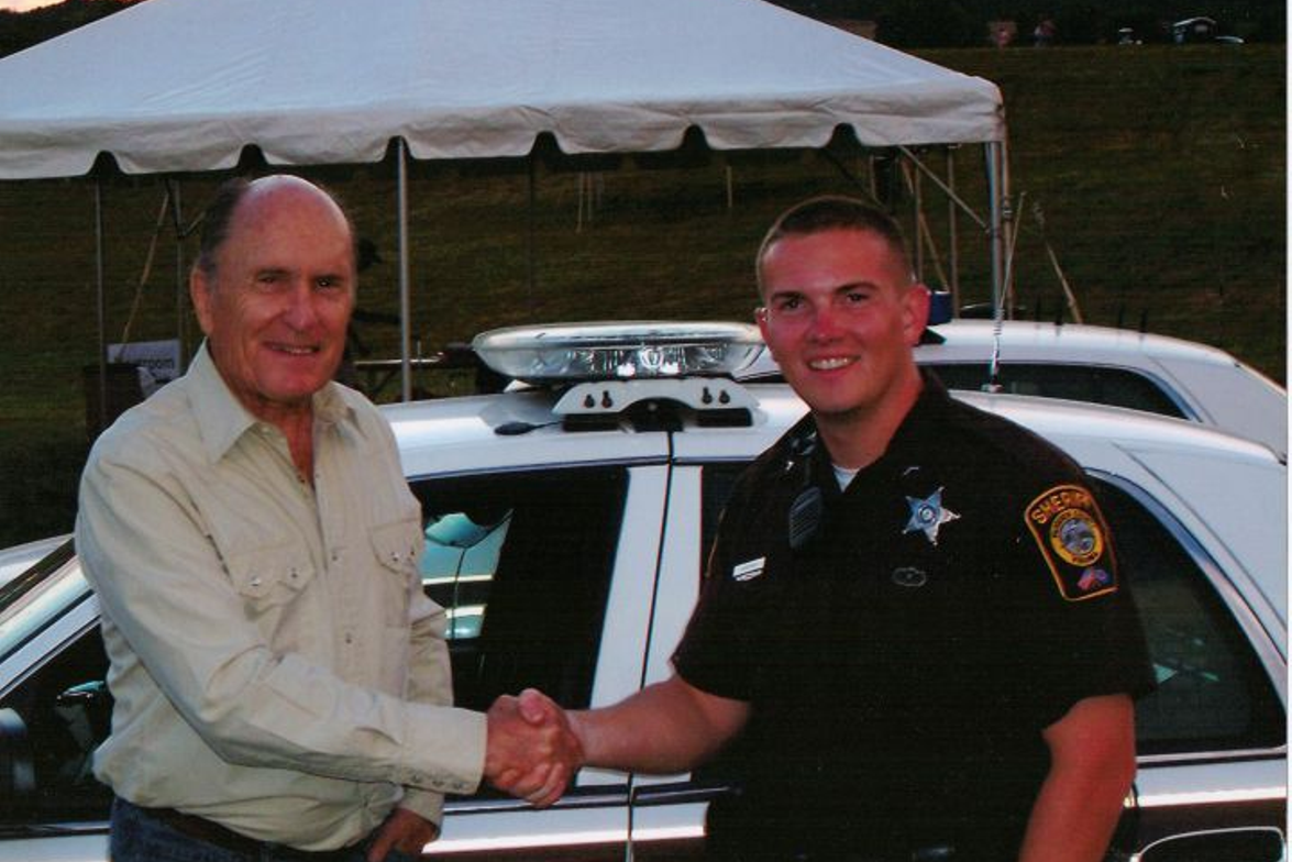 Deputy Matt Martin of the Fauquier County (Va.) Sheriff's Office met actor Robert Duvall during...