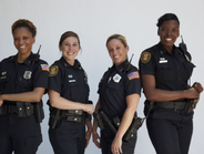 The female Memphis police officers featured on the show are (from left to right) Virginia...