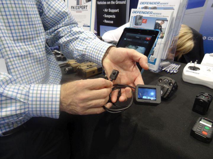 PRG Defense's Defender body-worn cameras feature standard secure embedded 32 GB storage capacity...