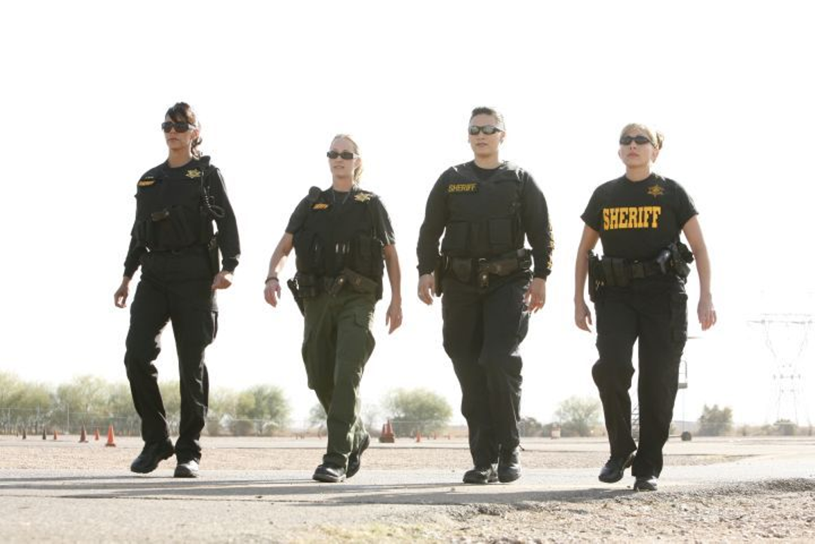 """Police Women of Maricopa County"" features four Maricopa County Sheriff's deputies (from left to..."