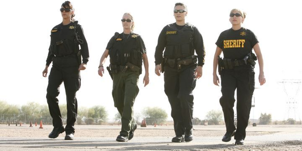 """""""Police Women of Maricopa County"""" features four Maricopa County Sheriff's deputies (from left to..."""