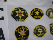 Not suprisingly, Sgt. Shull's first patch in the collection was from her own agency in California.