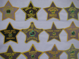 Indiana sheriffs' departments offer slight modifications on the five-point star badge motif.