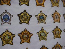 Sheriffs' departments in Kentucky mostly follow a uniform pattern of the five-point star badge....