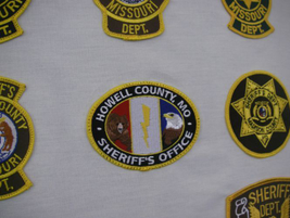 The Howell County (Mo.) Sheriff's Office incorporated mascots—bear, lightning bolt and bald...