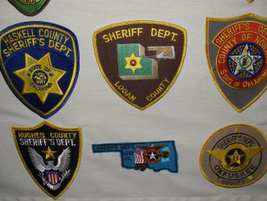 Several agencies such as Love County (Okla.) Sheriff Department use a patch with a shape...