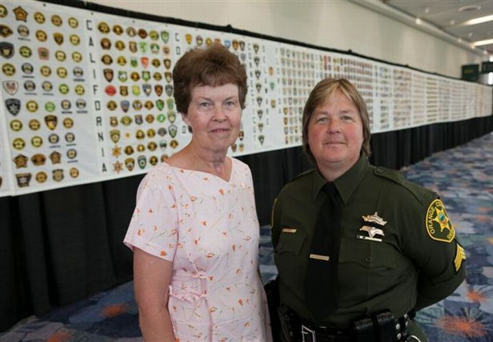 Deputy Sgt. Yvonne Shull collected one patch from each sheriff's agency in the county with the...