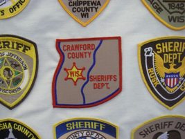 The Crawford County (Wis.) Sheriff's Department uses a geographic patch shaped like the county...