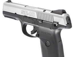 The SR40 has aggressive grasping grooves on the slide.