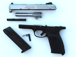 The SR40 is easily disassembled into its six main subcomponents.