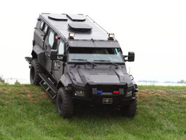 The 4x4 truck's higher ground clearance enables maneuverability in a variety of urban and rural...