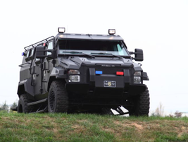 In addition to more traditional SWAT trucks, Alpine has also built canine-themed vehicles such...