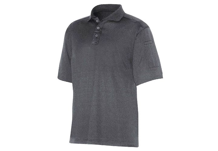 Dickies' Performance Tactical Polo Shirt features UV protectant, a mesh underarm gusset, and a...