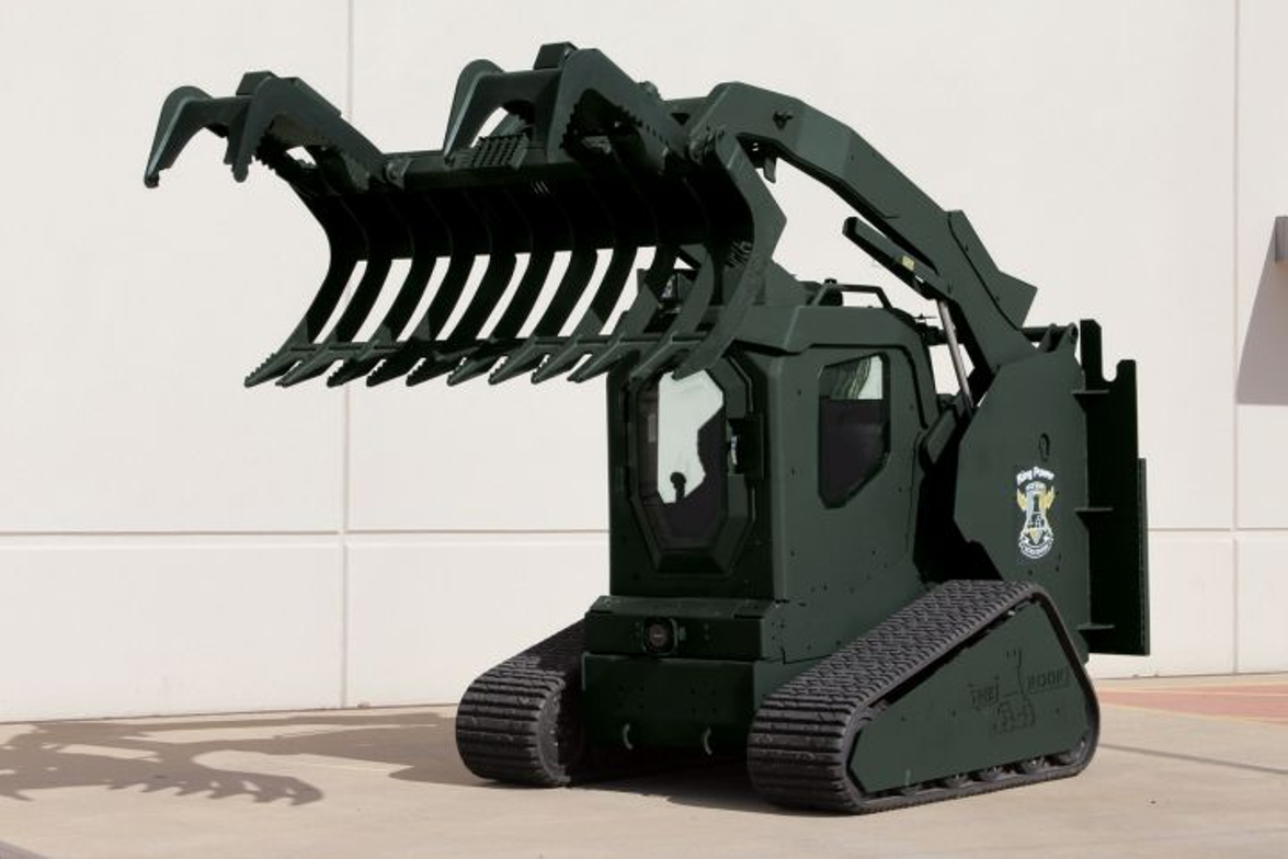 The Rook Critical Incident Vehicle's Grapple Claw attachment.