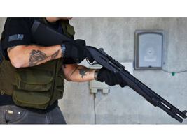 Remington's R12P Tactical shotgun provides 12-, 14.5-, 18-, or 22-inch barrels with capacity for...