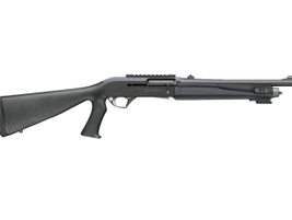 The R12P is available with various stocks, sighting systems, and chokes. This version shows the...