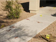 One gunshot victim showed up at a nearby hospital in Tucson for treatment with both legs nearly...